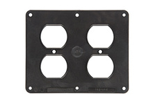 2-Gang 2-Duplex Cover Plate, Black