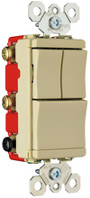 Specification Grade Decorator Combination Switch, Ivory