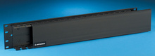 Closed Cover Finger Duct Cable Management Panel - 3 H x 1 in D duct - 3.5 in H x 19 in W - 2 rack units - black