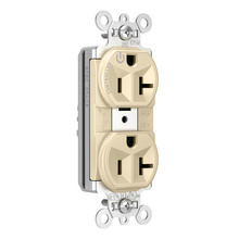 PlugTail® Tamper-Resistant Heavy-Duty Spec Grade Plug Load Controllable Receptacle, 20A, 125V, Ivory