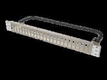 Clarity HDJ 48-Port, 2RU Shielded High Density Jack, Unloaded Flat Panel White