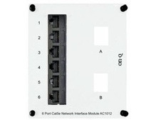 6-Port Cat 5e Network Interface Module