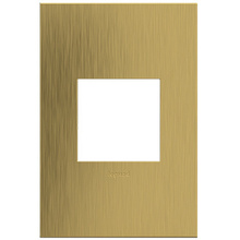 adorne® Brushed Satin Brass One-Gang Screwless Wall Plate