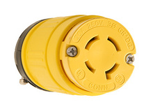 Rubber Dust-Tight Locking Connector, Yellow