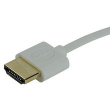 18Gbps Premium Certified Slim Line HDMI Cables with Ethernet, 1 Meter