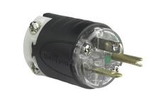 20A, 125V Extra-Hard Use Hospital-Grade Plug, Black & Clear