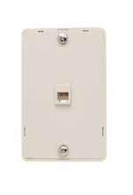 Modular Wall Mount Telephone Jack for Hanging Phones