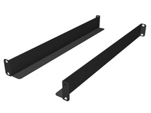 MM20 Equipment Support Brackets -  set of brackets 6 in D for rear support on all MM20 racks -  Black