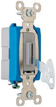 Industrial Extra Heavy-Duty Specification Grade Lock Switch, Back & Side Wire, Gray