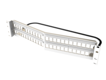 Clarity 48-Port, 2RU Shielded High Density Jack, Unloaded Angled Panel - White