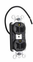 PlugTail® Split Circuit Spec Grade Receptacles, 15A, 125V, Black