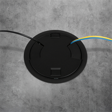 8CT Evolution™ Poke Thru Surface Style Cover, Black