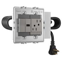 ADORNE FPC 2-GANG USB, P, 1 O/L MAG