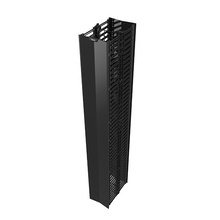 Q-Series Vertical Manager -  6 ft H x 6 in  wide -  double sided