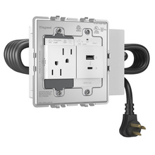 adorne Furniture Power Center with 1 Outlet and 1 USB A/C Port
