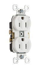 TR5252W Tamper-Resistant Specification Grade Receptacle, Back & Side Wire, 15A, 125V, White