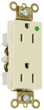 Tamper-Resistant Heavy-Duty Decorator Hospital Grade Receptacles, Back & Side Wire, 15A, 125V, Gray