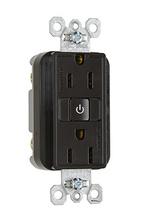 15A, 125V Plug Load RF Dual-Control Fed Spec Receptacle, Brown