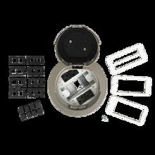 6AT Prewired Evolution™ Poke Thru Device, Flush Style Cover, Nickel