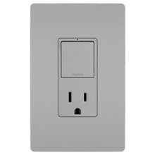 radiant® Single-Pole/3-Way Switch with 15A Tamper-Resistant Outlet