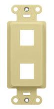 2-Port Decorator Outlet Strap, Ivory