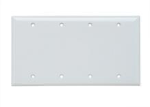 Blank Plates -- Box Mounted, Four Gang, White
