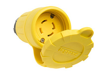 29W74 Watertight NEMA 4X/6P Locking Connector,Yellow