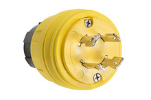 28W74 Watertight NEMA 4X/6P Locking Plug,Yellow