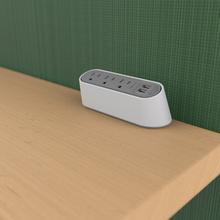 Desktop Power Center Slim 3 Outlet 2 USB White/Gray