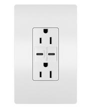 radiant® 15A Tamper-Resistant USB Type C/C Outlet