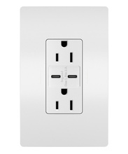 Discontinued | radiant® 15A Tamper-Resistant USB Type-C/C Outlet | No sub