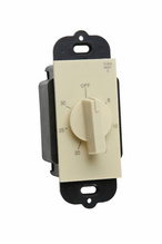 Wall Box Decorator Rotary Timer, Ivory