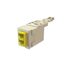 Infinium HD Fiber Module, Keyed Front Keyed Rear LC Duplex (2 Fibers), HDJ Insert, Yellow Adapter Black for Panel