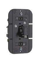 TradeMaster Magnetic Low-Voltage Toggle Dimmer, Black