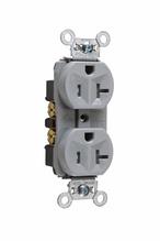Tamper-Resistant Hard Use Spec Grade Receptacle, Back & Side Wire, 15A, 125V, Gray