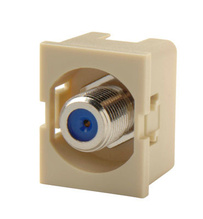 TRACJACK RECESSED F-CONN 75 OHM ELECTRICAL IVORY