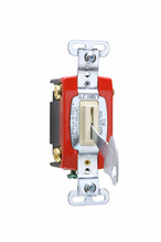 Industrial Extra Heavy-Duty Specification Grade Lock Switch Back & Side Wire, Ivory
