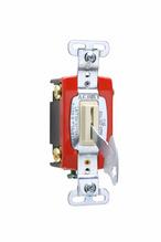 Industrial Extra Heavy-Duty Specification Grade Lock Switch Back & Side Wire, Light Almond