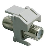 Recessed Nickel Self-Terminating F-Connector, Gray