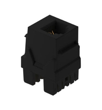 6P6C Keystone Connector, Black