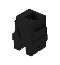 6P6C Keystone Connector, Black