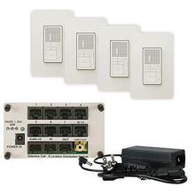 Discontinued: radiant Broadcast 4-Room Intercom Kit, Light Almond