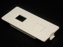 5500 Dual RJ11/RJ45 Connector Faceplate Fitting