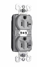 PlugTail® Tamper-Resistant Spec Grade Receptacles, 20A, 125V, Gray