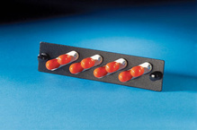 4 ST-Duplex (eight fibers) multimode adapters with phosphbronze alignment sleeves