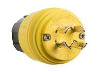 26W75 Watertight NEMA 4X/6P Locking Plug,Yellow