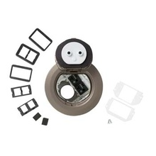 4AT Prewired Dual Service Controlled Receptacle Evolution™ Poke-Thru Device-Nickel