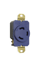 30 Amp NEMA L530 Single Receptacle, Blue