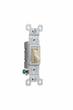 NAFTA-Compliant TradeMaster Grounding Toggle Switch, Ivory