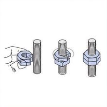 3/8'' Slip On Lock Nut Stainless 304 (2 PCS) [943355]